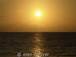 Caribbean sunset. by Allen Weaver