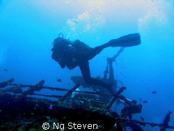 Strolling at the wreck by Ng Steven