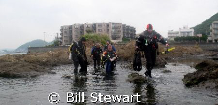 """Chris Walks on Water""  Members of the ""Bubble Club"" from... by Bill Stewart"