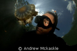 Just me and the Jelly Nikon D2 in a SeaCam housing, 10mm... by Andrew Mckaskle