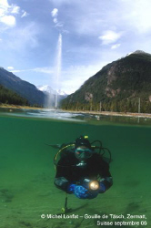 This is a dive we do in a very small lake near Zermatt in... by Michel Lonfat