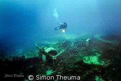 Blenheim Bomber wreck off Marsascala Malta. by Simon Theuma