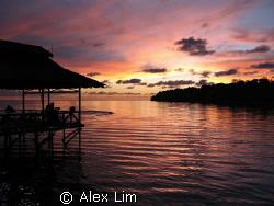 Sunset on Survivor Island (1st series), now a budding div... by Alex Lim