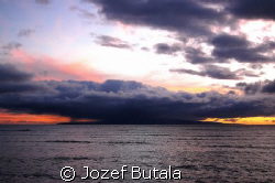 clouds at kahoolawe by Jozef Butala