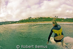 Paddler's view and plumber's cleavage by Robert Bemus