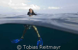 Christine after the dive with videocam, Bida Nok, Canon E... by Tobias Reitmayr