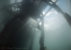Under the pier. Trefor. North Wales. D200, 10.5mm. by Derek Haslam