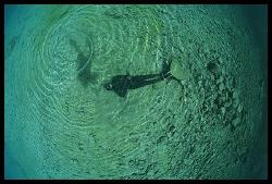 """""""Divers making bubbles"""" by Dejan Sarman"""