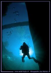 "Diving under the ""Devil Bridge"" of the Verzasca River in ... by Michel Lonfat"