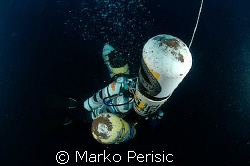 Tech Diver going deep Antibes France. by Marko Perisic
