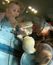 A pool competition image. Little Kaja was cooperating per... by Alena Vorackova