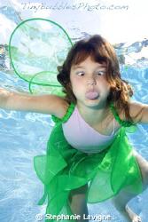 Tiny Bubbles portrait. Model: Hannah, refusing to let the... by Stephanie Lavigne