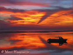 Sunrise from the beach of Sanur, Bali by Marco Waagmeester