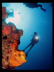 Wall diving at Puerto Rico's southeast corner.  Canon g9 by Juan Torres