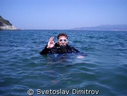 I am ready for one of my dives during the SSI course for ... by Svetoslav Dimitrov