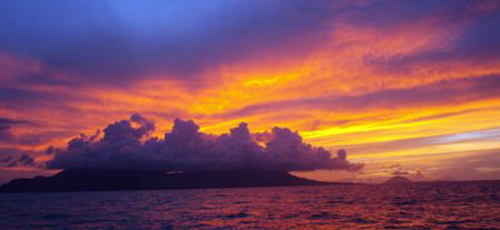 Saint kitts and statia sunset by sail by Durand Gerald