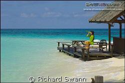 Castaway !  My wife Joanne hits the bottle in the Sulu Se... by Richard Swann