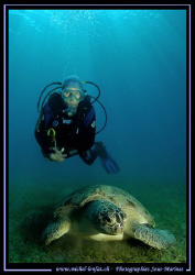 """A beautiful moment between my wife and this huge """"Green T... by Michel Lonfat"""