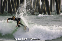 Backdrops...intentional slow shutter...Huntington Beach P... by Robert Bemus