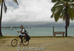 This is how we go diving on Kwajalein!  You have to reall... by Jim Mcguire