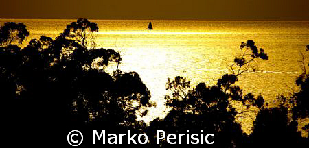 Golden Sunset Porto Corsica. by Marko Perisic