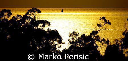 Golden Sunset Porto Corsica. by Marko Perisic