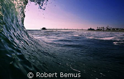 Framed Newport pier by Robert Bemus
