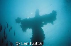 God must be close.  Truk Lagoon.  Mast of the Fujikawa Maru by Len Nuttall