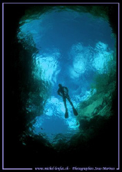 Diving the Verzasca River Hole.... :O) by Michel Lonfat