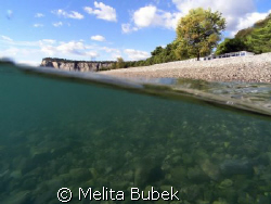 Baia di Sistiana near Trieste, Italia. It*s not a most ba... by Melita Bubek