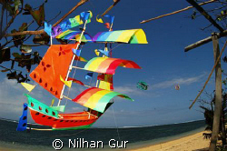Sailing away... From Sanur Beach, Bali.. by Nilhan Gur