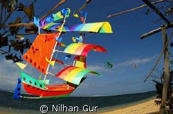 Sailing away... From Sanur Beach, Bali.. by Nilhan Gur