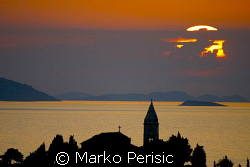 Burning sunset over Primosten Dalmatcia. by Marko Perisic