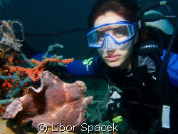 Eva & frogfish, who is more beautiful? ;-) by Libor Spacek