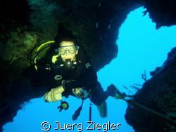 Cave at Pescador Island, Moalboal (Cebu) by Juerg Ziegler
