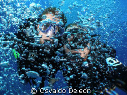 LOS ARCOS AT THE WALL PARGUERA PR, WEST DIVERS  by Osvaldo Deleon