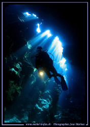 My wife in one of the caves of the Read Sea.... :O) .... by Michel Lonfat