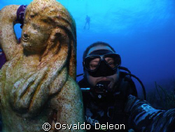 The mermaide and I, self photography. at La Parguera West... by Osvaldo Deleon