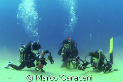 THE SEAHORSE AND THE UNDERWATER PHOTOGRAPHERS by Marco Caraceni