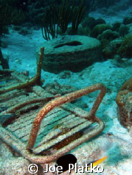 Junk while diving in Curacao we came across a bunch of o... by Joe Platko