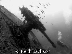 rear gun on the Thistlegorm by Keith Jackson