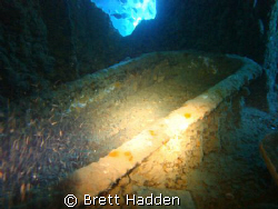 Captains Cabin and his bath tub..... HMS Thistlegorm.. by Brett Hadden