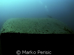 Look down the length of the Vassilious wreck. Komiza Vis. by Marko Perisic