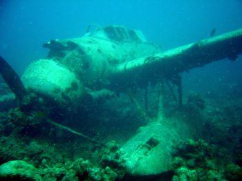 Japanese Float Plane WWII. Taken @ Palau, Sony P5 digital. by Hilal Matta