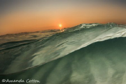 Florida sunset from a fish's point of view. ©Amanda Cotton by Amanda Cotton