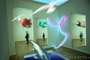 COMPOSING photoshop - lightinstsllations - Lenbachhaus Mu... by Manfred Bail