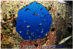 Rozi wreck the hole thing, Cirkewwa Malta by Joseph Azzopardi