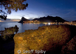 my home town of Hout Bay taken from the old fort. Taken l... by Geoff Spiby