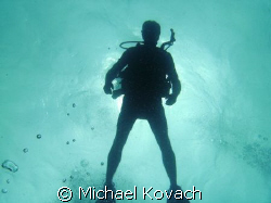 Diver over the Inside Reef at Lauderdale by the Sea by Michael Kovach