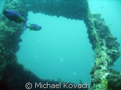 One of the many wrecks along the shore at Fort Lauderdale by Michael Kovach